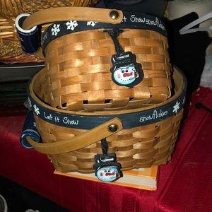 Snowman baskets